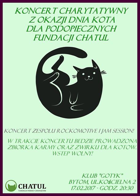 Koncert charytatywny dla CHATULA na Dzień Kota 17.02.2017